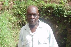 The Water Project: Jivovoli Community, Gideon Asonga Spring -  Mr Absolom Asonga