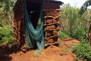 The Water Project: Mbande Community, Handa Spring -  Latrine