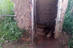 The Water Project: Koloch Community, Solomon Pendi Spring -  Latrine