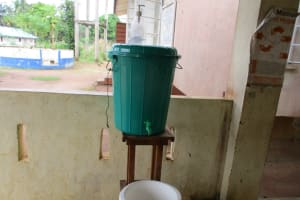 The Water Project: Yongoroo Community, New Life Clinic -  Hand Washing Station