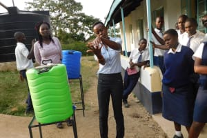 The Water Project: Eshisiru Secondary School -  Hand Washing Training