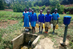 The Water Project: Eshiamboko Primary School -  At The Spring