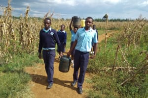 The Water Project: Sipande Secondary School -  Carrying Water