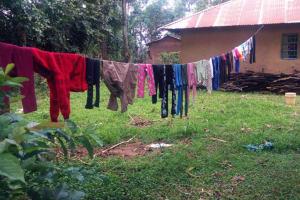 The Water Project: Jivovoli Community, Wamunala Spring -  Clothesline