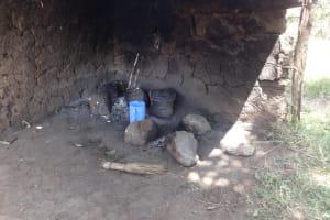 The Water Project: Ingavira Community, Laban Mwanzo Spring -  Kitchen