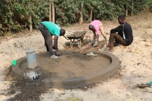 The Water Project: Eshitowa Community -  Well Pad Construction