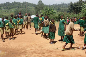 The Water Project: Gemeni Salvation Primary School -  Students In The School Compound