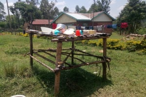 The Water Project: Naliava Primary School -  A Dishrack Outside The Kitchen