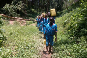 The Water Project: Naliava Primary School -  Carrying Water