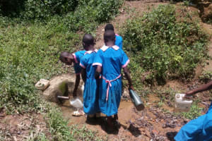The Water Project: Naliava Primary School -  Girls Fetch Water