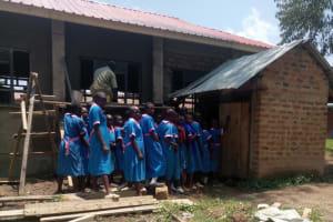 The Water Project: Naliava Primary School -  Girls Line For Latrine