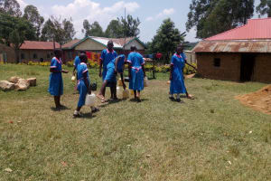 The Water Project: Naliava Primary School -  Leaving Filled Water Containers