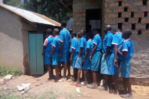 The Water Project: Naliava Primary School -  Queue For Latrine