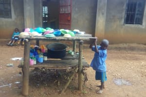 The Water Project: Shihimba Primary School -  Dishes Drying