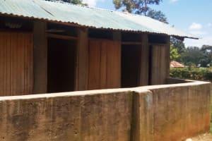 The Water Project: Precious School Kapsambo Secondary -  Sample Latrines