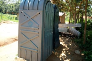 The Water Project: Emukangu Primary School, Shibuli -  Mobile Pit Latrines In The School