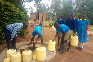 The Water Project: Emukangu Primary School, Shibuli -  Students At Well