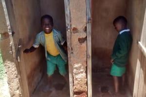 The Water Project: St. Joseph Eshirumba Primary School -  Boys Model Latrines