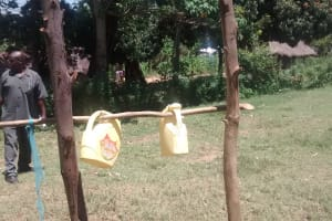The Water Project: St. Joseph Eshirumba Primary School -  Handwashing Point At The Latrines