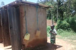 The Water Project: St. Joseph Eshirumba Primary School -  Improvised Handwashing Stations Next To Latrines
