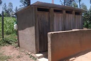 The Water Project: St. Joseph Eshirumba Primary School -  Latrines