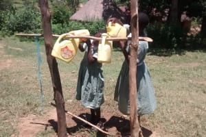 The Water Project: St. Joseph Eshirumba Primary School -  Refilling Handwashing Points