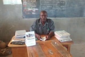 The Water Project: St. Joseph Eshirumba Primary School -  Schools Head At His Office