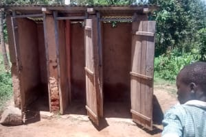 The Water Project: St. Joseph Eshirumba Primary School -  Section Of The Latrines