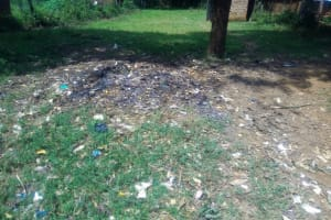 The Water Project: Eshisenye Primary School -  An Open Dumpsite At The School