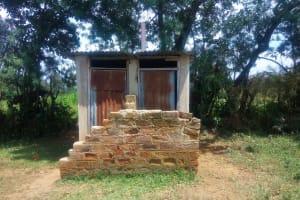 The Water Project: Eshisenye Primary School -  School Latrines