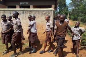 The Water Project: Shitaho Community School -  Boys At Latrines