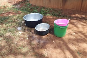The Water Project: Shitaho Community School -  Kitchen Pots And Water Bucket