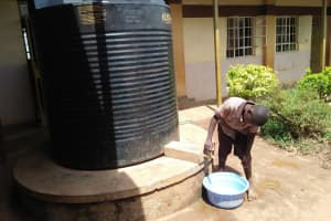 The Water Project: Shitaho Community School -  Rainwater Collection Tank