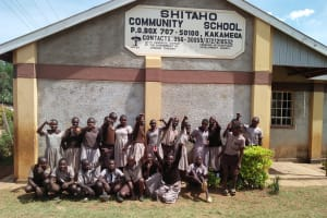 The Water Project: Shitaho Community School -  Silly Student Photo In Front Of School