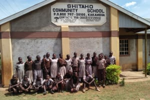 The Water Project: Shitaho Community School -  Students In Front Of School