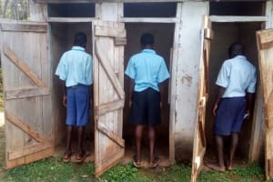 The Water Project: Matsigulu Primary School -  Boys At Their Latrines