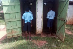 The Water Project: Matsigulu Primary School -  Boys Line Up For Latrines
