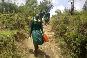 The Water Project: Imbale Primary School -  Students Heading To Fetch Water