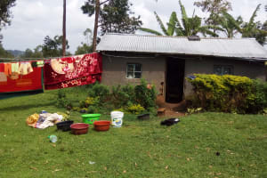 The Water Project: Matsakha Community, Siseche Spring -  Clothes Drying Infront Of A Household In The Village