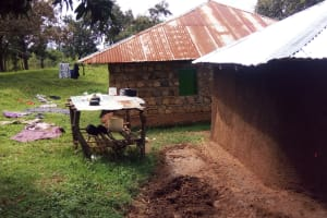 The Water Project: Matsakha Community, Siseche Spring -  Clothes Line And Dish Drying Rack