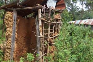 The Water Project: Matsakha Community, Siseche Spring -  Sample Latrine