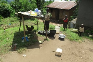 The Water Project: Luvambo Community, Timona Spring -  Mrs Alice Family