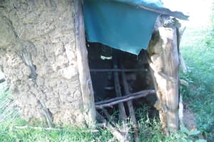 The Water Project: Luvambo Community, Timona Spring -  Sample Latrine