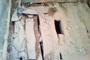 The Water Project: Musutsu Community, Mwashi Spring -  Latrine Floor State