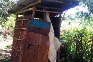 The Water Project: Musutsu Community, Mwashi Spring -  Sample Latrine
