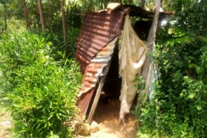 The Water Project: Mungaha B Community, Maria Spring -  Latrine Sample In The Community