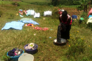 The Water Project: Mungaha B Community, Maria Spring -  Woman Washing Clothes