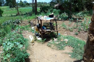 The Water Project: Chegulo Community, Yeni Spring -  Dish Drying Rack
