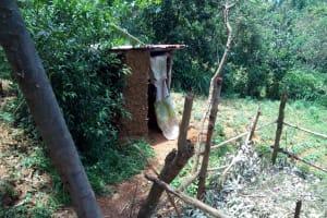 The Water Project: Chegulo Community, Yeni Spring -  Latrine