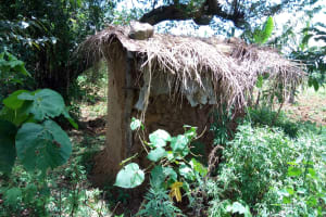 The Water Project: Chegulo Community, Yeni Spring -  Sample Latrine